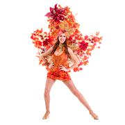 Carnival dancer woman dancing Stock Photos