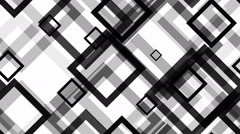 Tileable black grid square Stock Footage