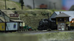 Model Train 02 - stock footage