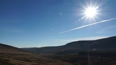 Ireland Wicklow Mountains Sunshine Stock Footage