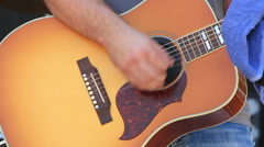 Acoustic Guitar, Concert, Hand Held Stock Footage