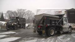 Loading salt truck Stock Footage