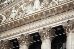 New York stock exchange building in Manhattan - USA - United states of americ - stock photo