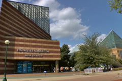 Tennessee Aquarium in Chattanooga, TN Stock Footage