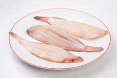 Raw sole fish Stock Photos