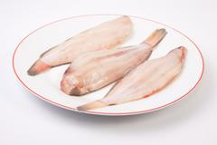 Raw sole fish - stock photo