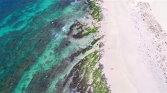 Aerial view of ( Praia de ) Chaves Beach in Boa Vista Cape Verde - Cabo Verde Stock Footage