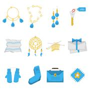 Stock Illustration of Colored icons for handmade items