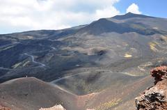 The crater of an extinct hillside Stock Photos