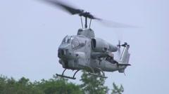 Stock Video Footage of Bell AH-1 SuperCobra Landing