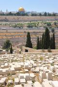 Graves on the Mount of Olives - stock photo