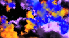 Clouds Effected Animated Abstract Colored Sky Vj Loop Stock Footage