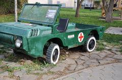 Sanitary military vehicle parts Stock Photos