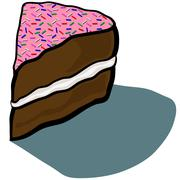 Cake Slice Icing - stock illustration