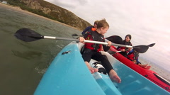 Kayaking in Abersoch Stock Footage
