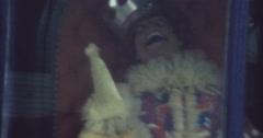 Funfair Horror Clown Blackpool 70s 16mm Stock Footage