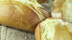 Fresh baked Buns (loopable) Stock Footage