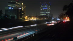 Traffic Time Lapse through Downtown Glendale (4K) Stock Footage