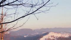 Panorama of the Carpathian Mountains Stock Footage