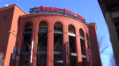 Establishing shot of Busch Stadium in St. Louis. Stock Footage
