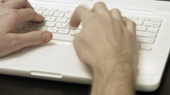 4K Typing on a white laptop keyboard Stock Footage