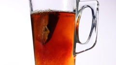 Glass of tea Stock Footage