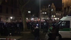 Stock Video Footage of 4k Press at Pegida anti demo and crowded crowd Braunschweig