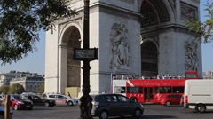 Arc de Triumphe in Paris France - Slow Tilt Up Stock Footage