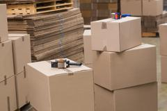 Preparation of goods for dispatch - stock photo