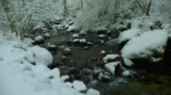 Stock Video Footage of Creek with snow during winter, Ashland