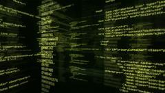 Program Code. Loopable. Green/black. 360. Stock Footage