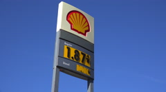 Gasoline prices fall to under $2 a gallon in 2015. Stock Footage