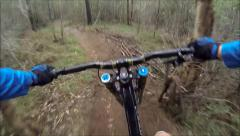 Mountain Biking In Bushland Stock Footage