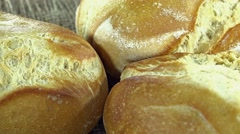 Rotating Buns (not loopable) Stock Footage