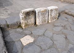 Boundary stones - stock photo