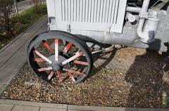 Wheeled arable tractor - stock photo