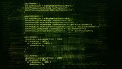 Program Code. Loopable. Green/black. Locked. Stock Footage