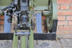 Elements of the old machine gun Stock Photos