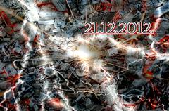 21.12.2012, the end of the world - stock photo