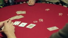 Poker Game 1 Stock Footage
