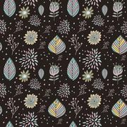 adorable cartoon seamless pattern - stock illustration