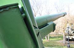 Howitzer-gun parts - stock photo