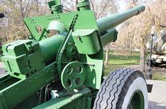 Howitzer-gun parts Stock Photos