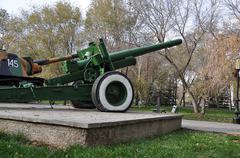 Stock Photo of Howitzer-gun parts
