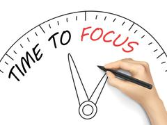 Stock Illustration of time to focus written by hand