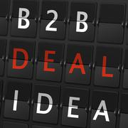 B2B deal idea words on airport board Stock Illustration