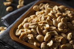 Organic Roasted Salty Peanuts - stock photo