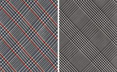 Classic Plaids Textile Swatches - stock photo