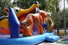 Children amusement show - stock photo