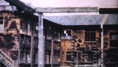 Old Factory In Rural Japan-1950 Vintage 8mm film Stock Footage